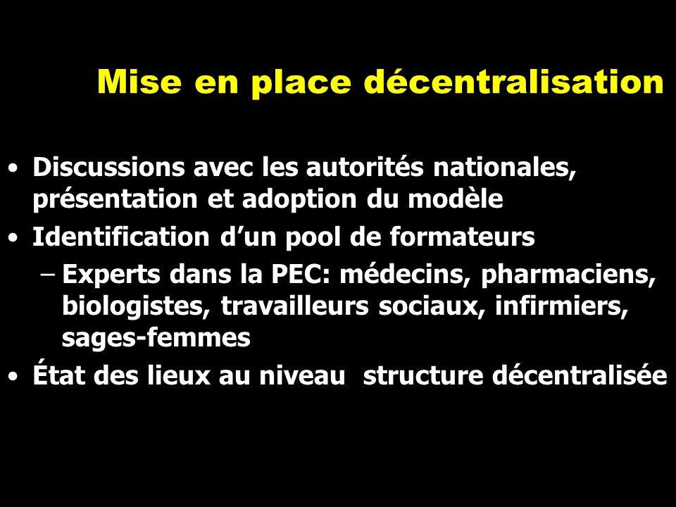 Mise en place décentralisation