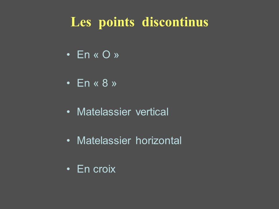 Les points discontinus