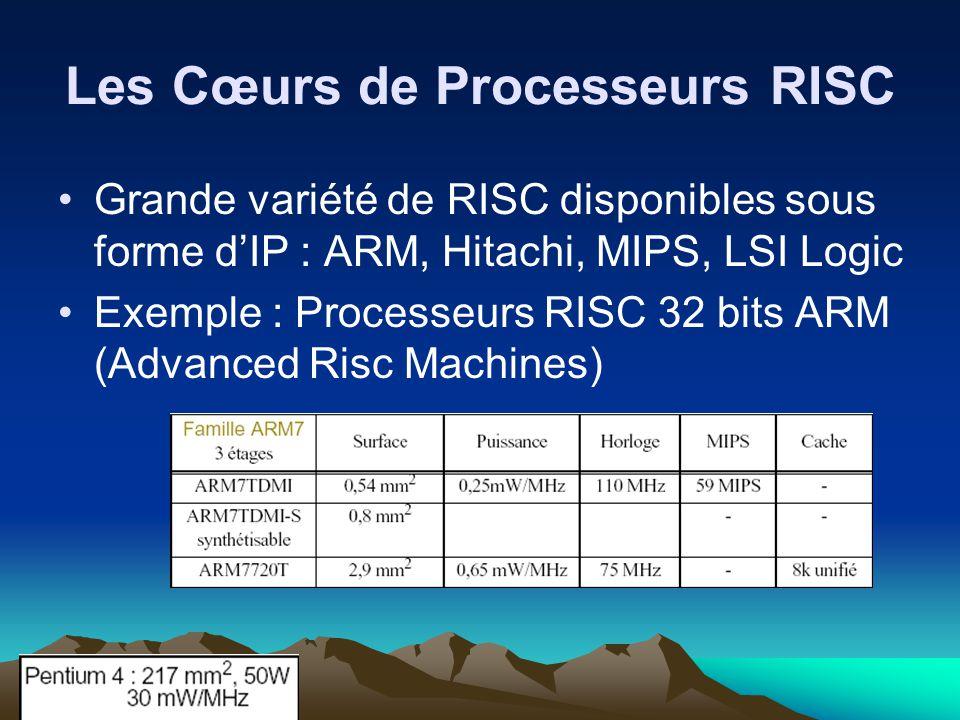 Les Cœurs de Processeurs RISC