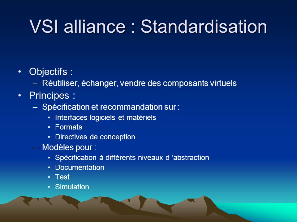 VSI alliance : Standardisation
