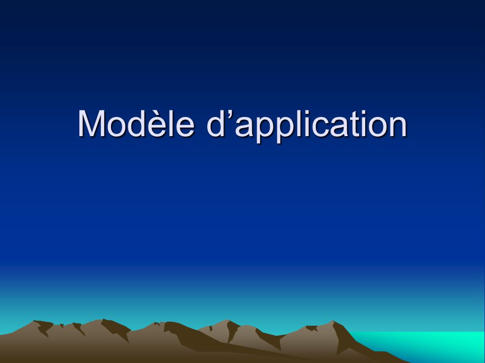 Modèle d'application