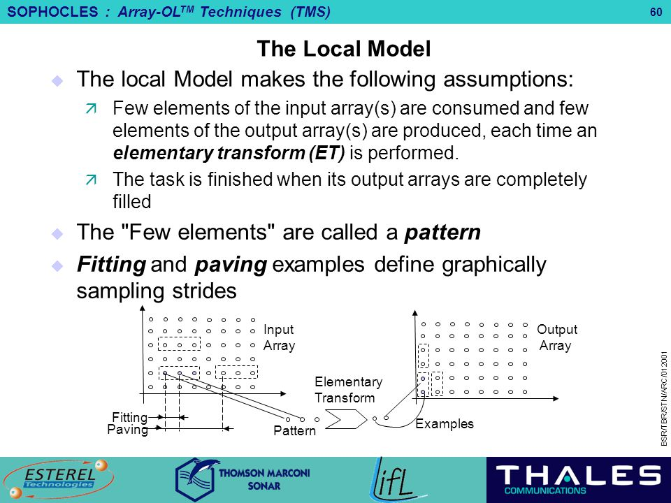 The local Model makes the following assumptions:
