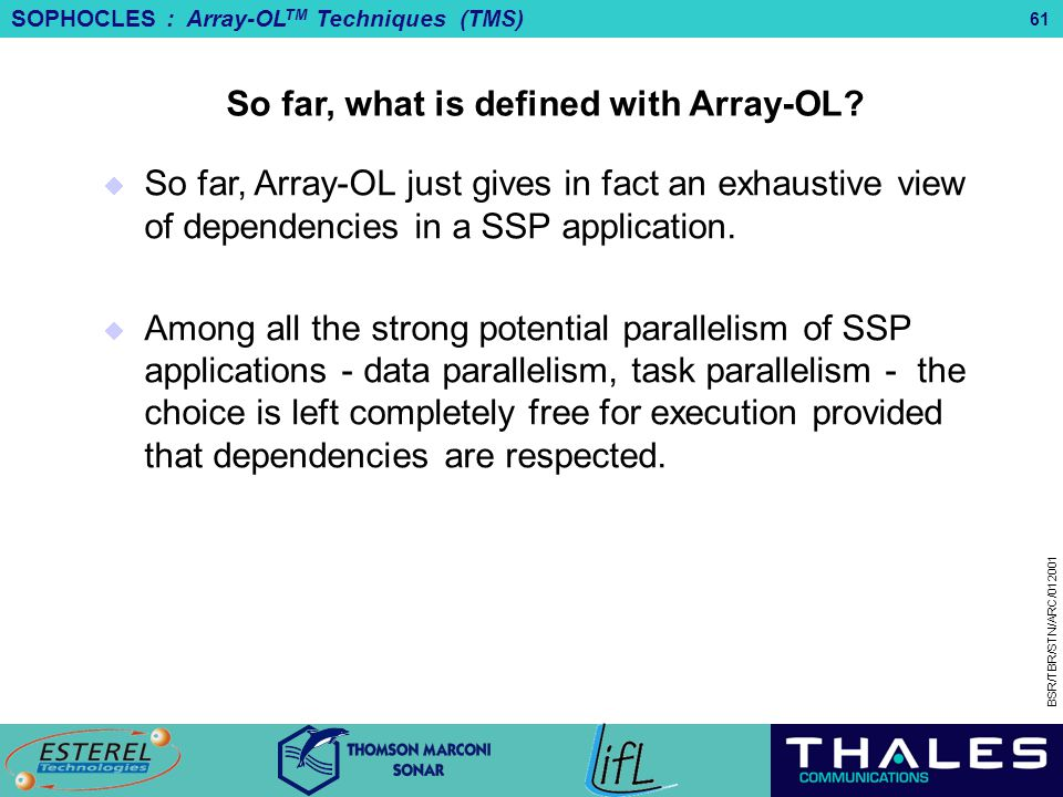 So far, what is defined with Array-OL