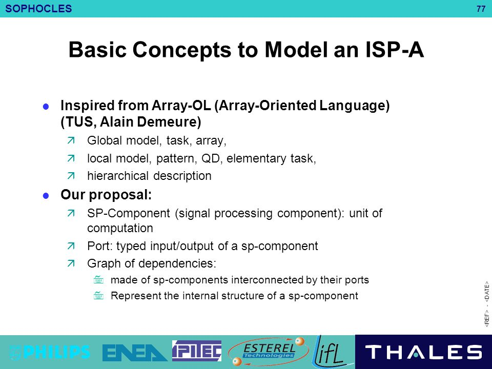 Basic Concepts to Model an ISP-A