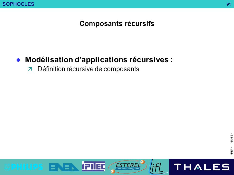Modélisation d'applications récursives :