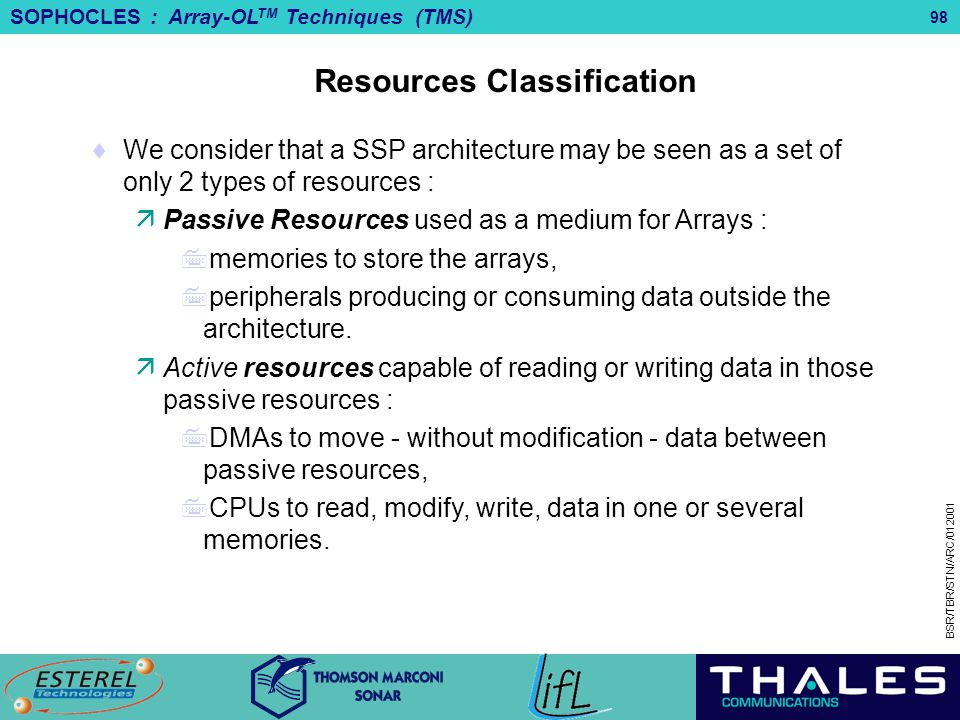 Resources Classification