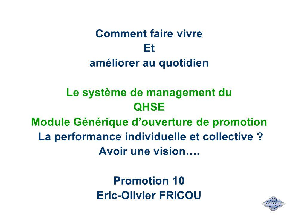 améliorer au quotidien Le système de management du QHSE