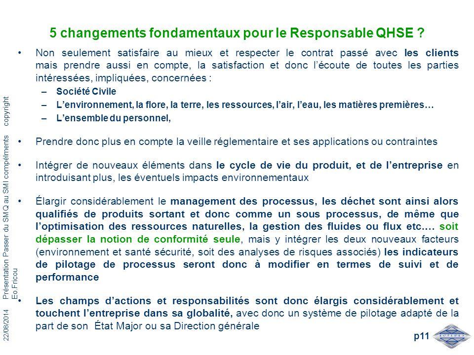 5 changements fondamentaux pour le Responsable QHSE