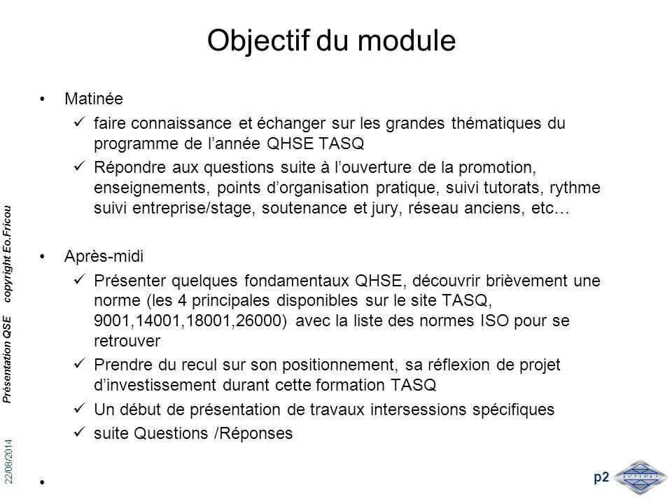Objectif du module Matinée