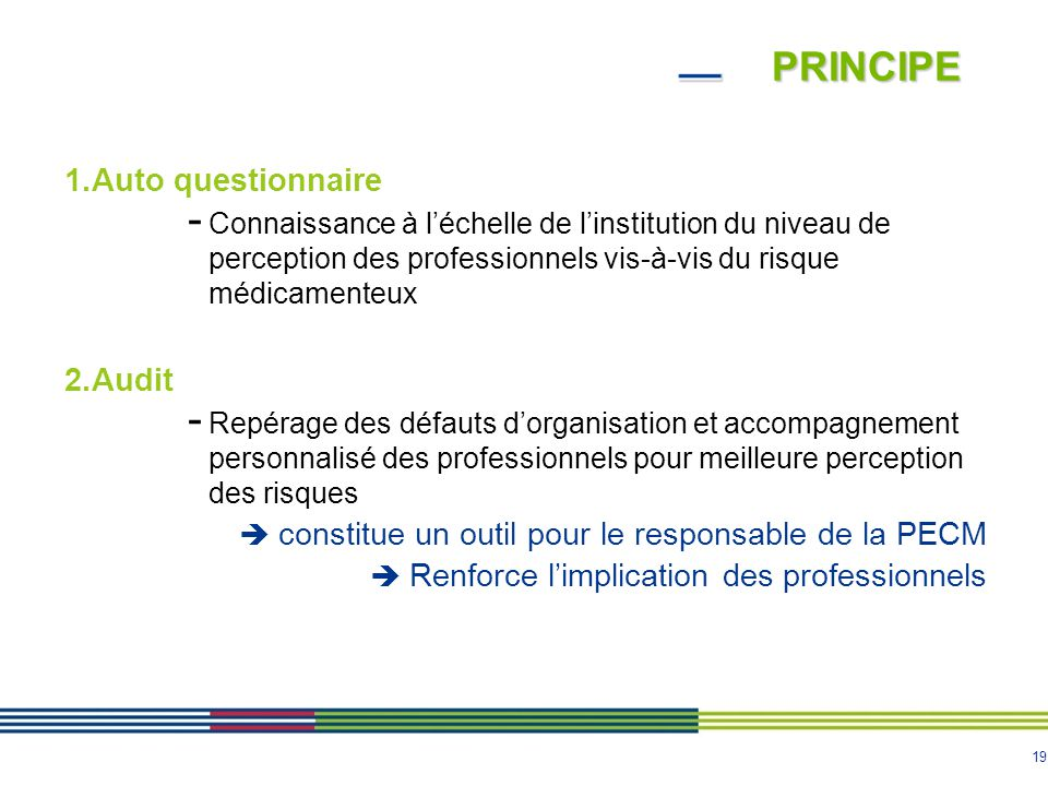Principe Auto questionnaire Audit