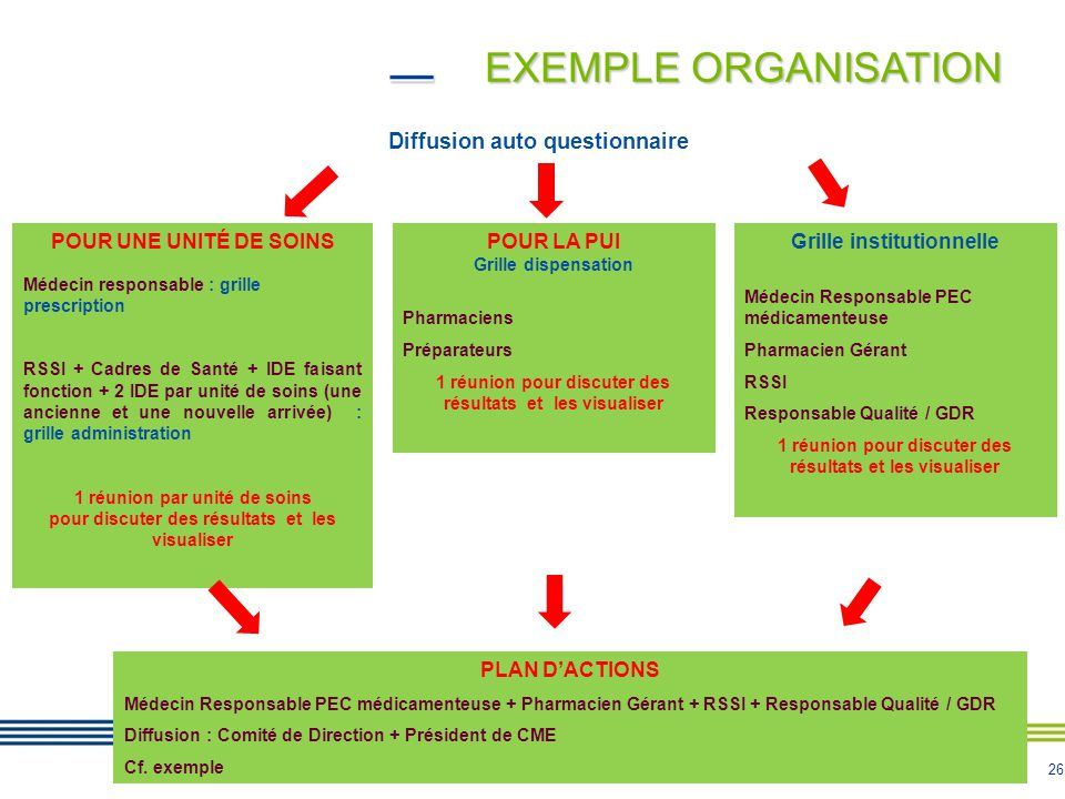 EXEMPLE ORGANISATION Diffusion auto questionnaire