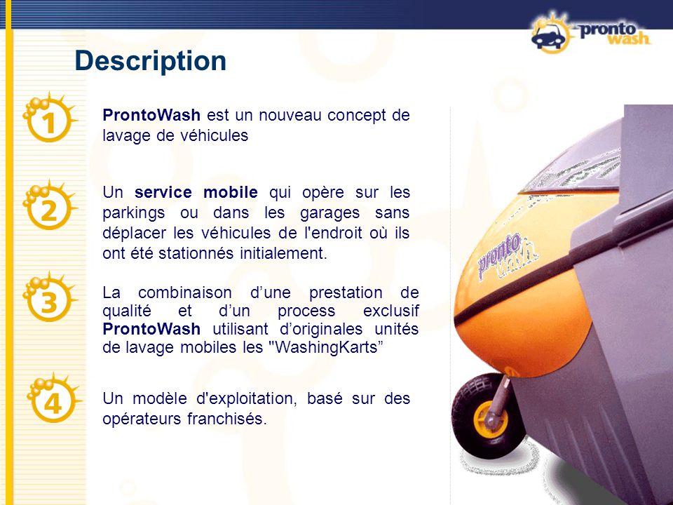 Description ProntoWash est un nouveau concept de lavage de véhicules