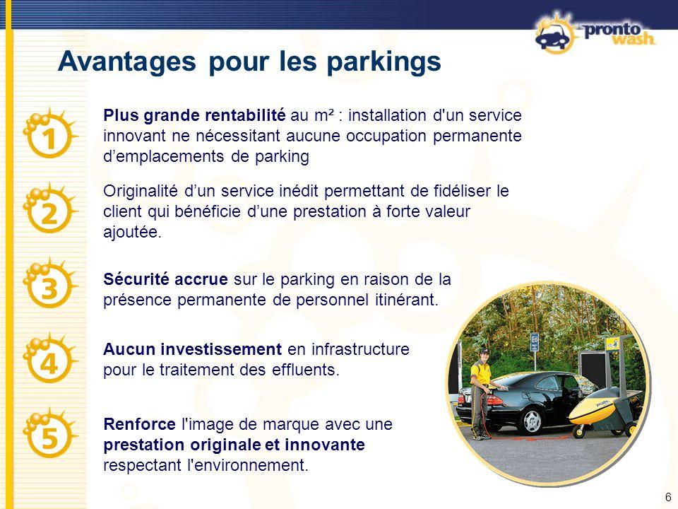 Avantages pour les parkings