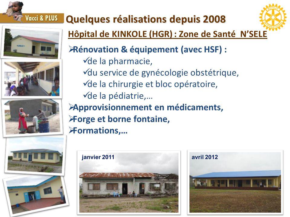 Quelques réalisations depuis 2008