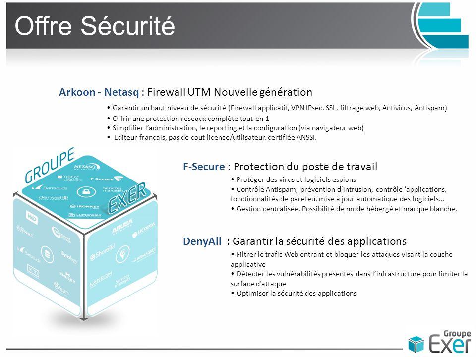Offre Sécurité Arkoon - Netasq : Firewall UTM Nouvelle génération