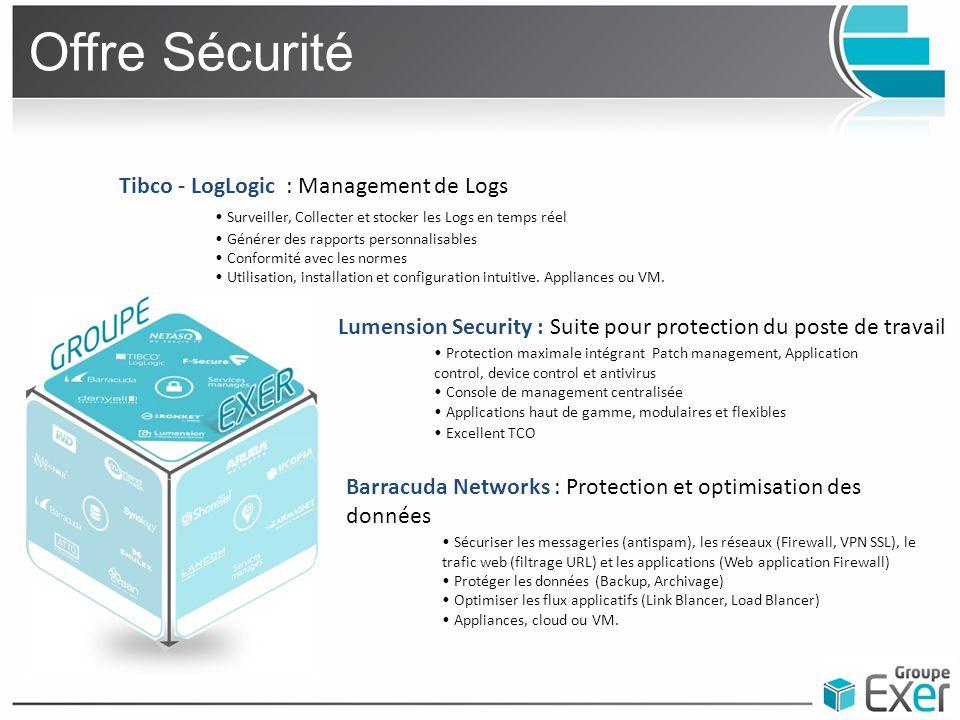 Offre Sécurité Tibco - LogLogic : Management de Logs