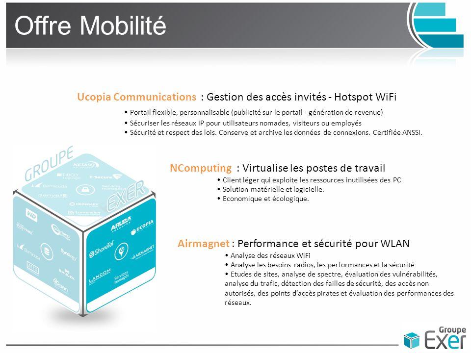 Offre Mobilité Ucopia Communications : Gestion des accès invités - Hotspot WiFi.