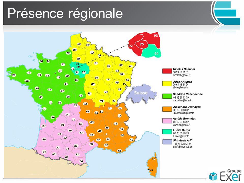Présence régionale