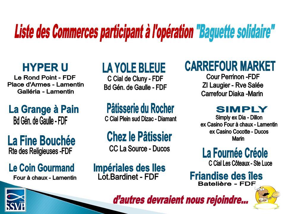 Liste des Commerces participant à l opération Baguette solidaire