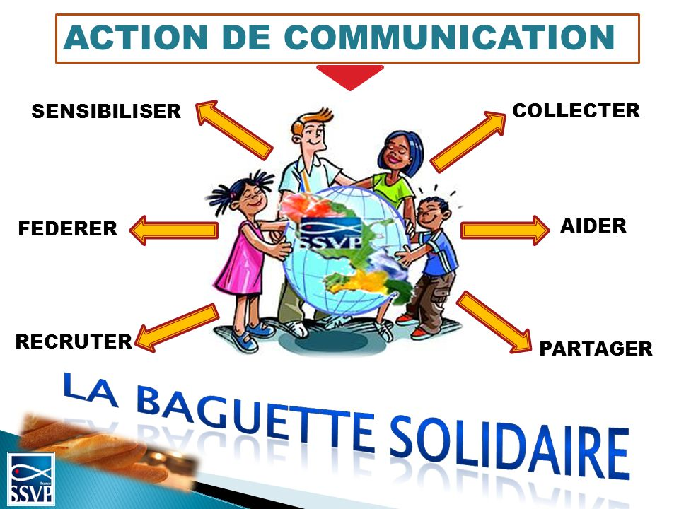 La baguette solidaire ACTION DE COMMUNICATION SENSIBILISER COLLECTER