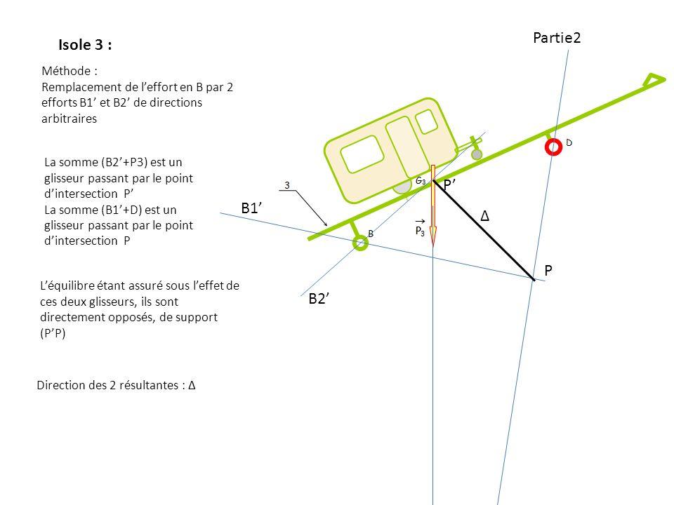 Partie2 Isole 3 : P' B1' Δ P B2' Méthode :