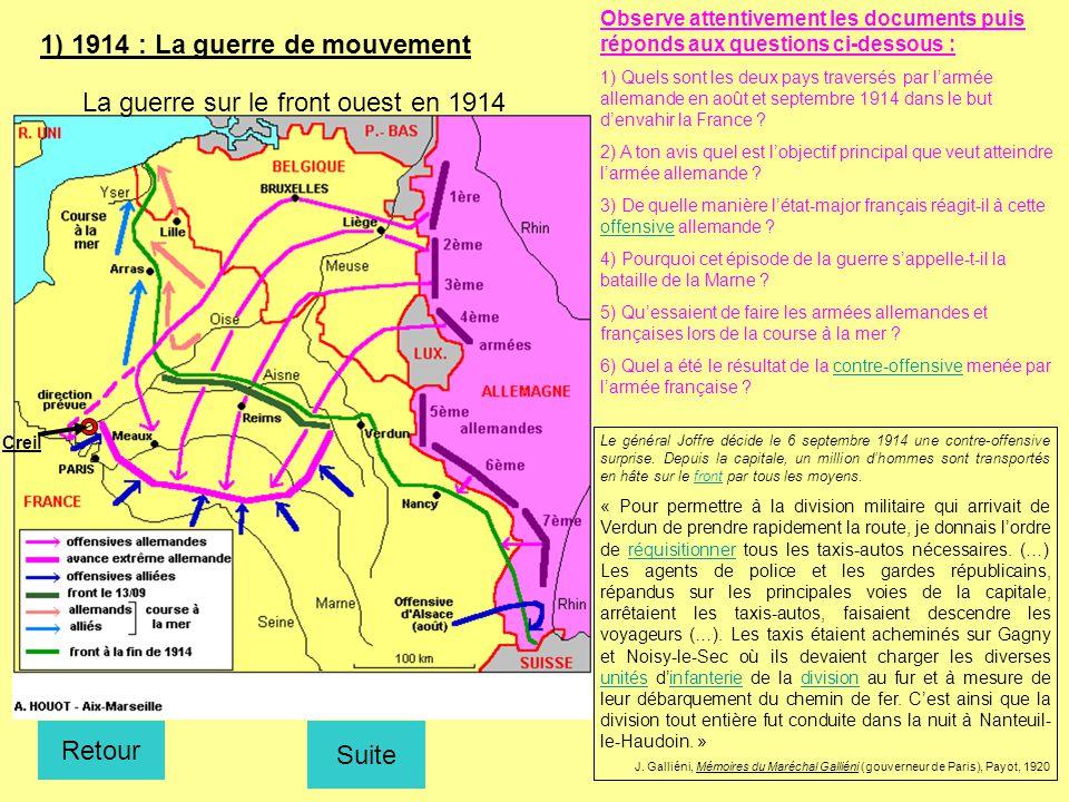 1) 1914 : La guerre de mouvement