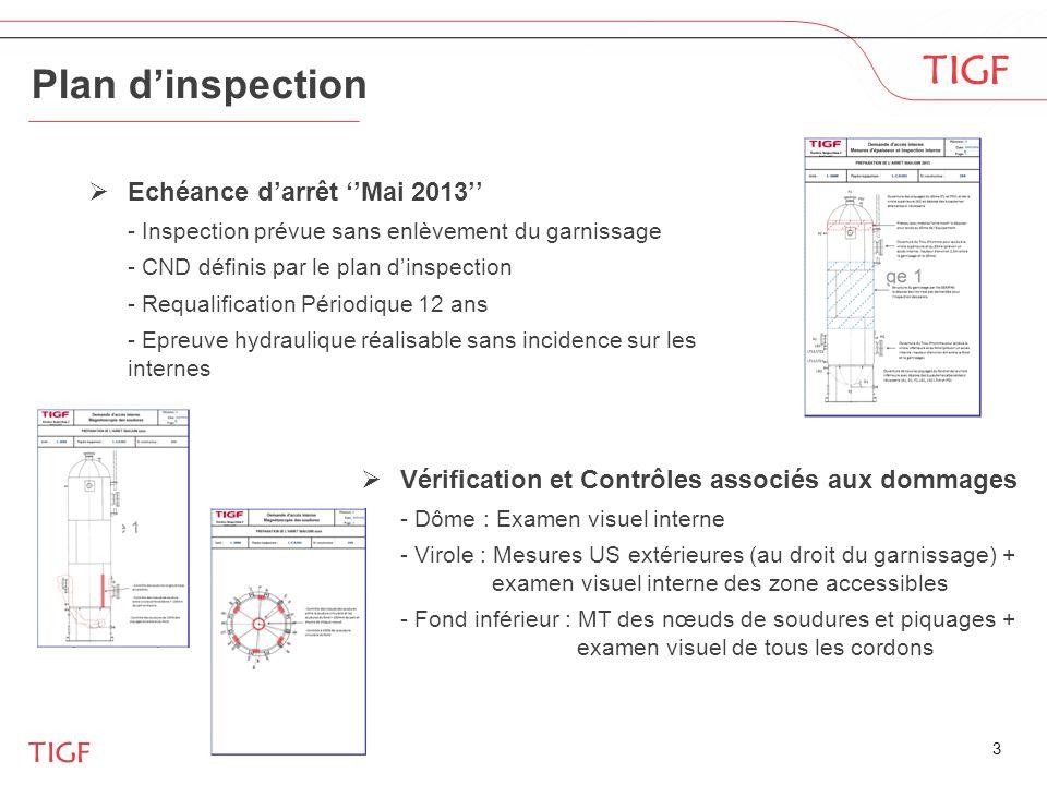 Plan d'inspection Echéance d'arrêt ''Mai 2013''