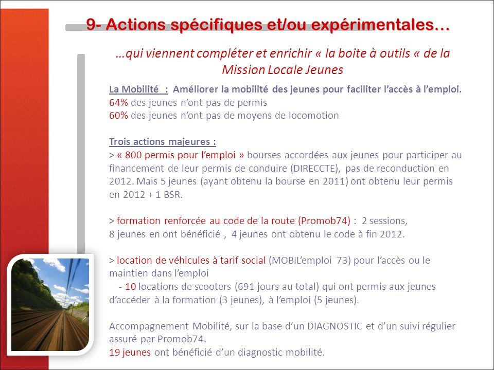 9- Actions spécifiques et/ou expérimentales…