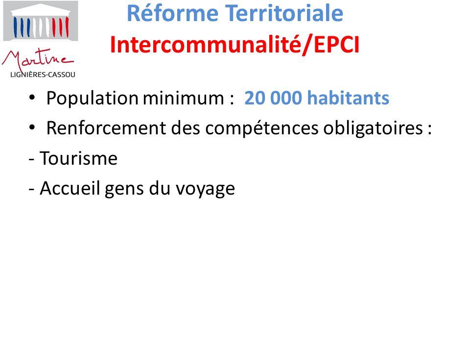 Réforme Territoriale Intercommunalité/EPCI