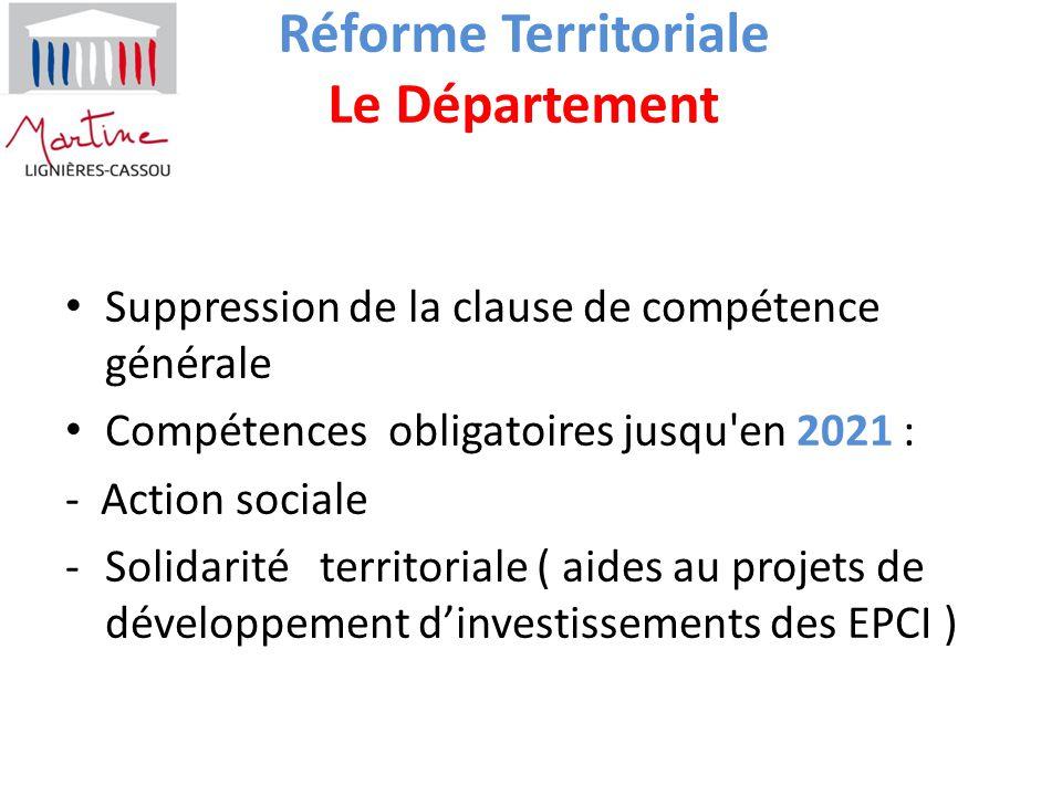 Réforme Territoriale Le Département