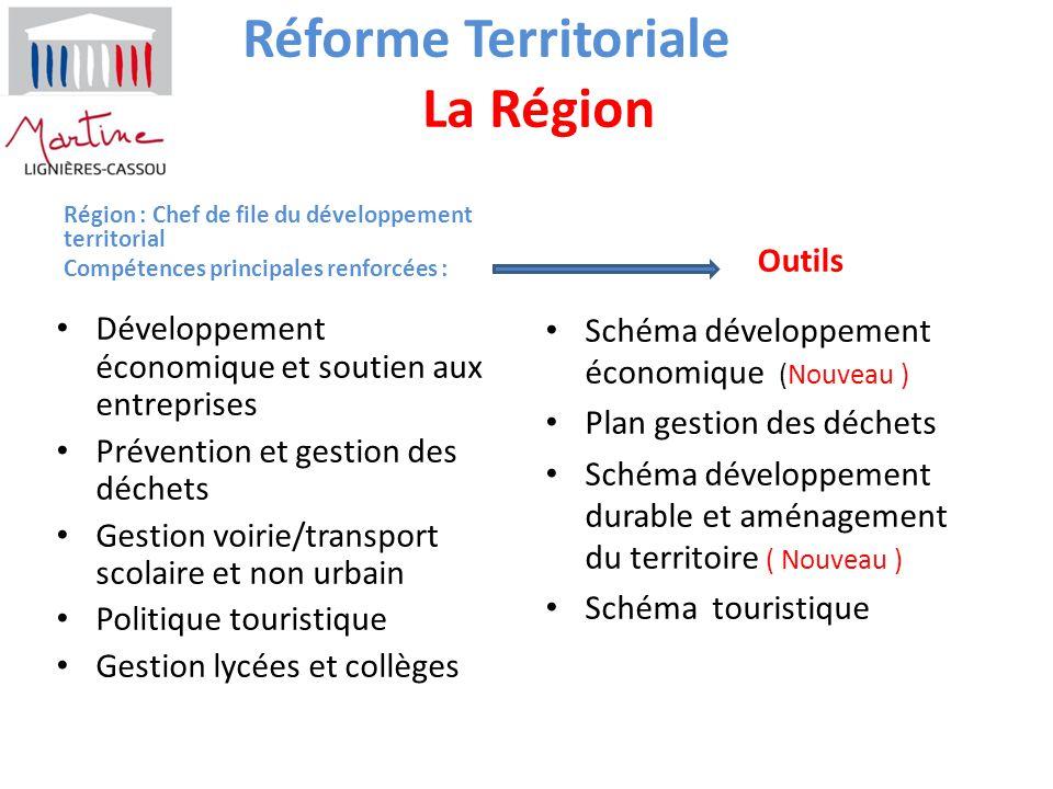 Réforme Territoriale La Région