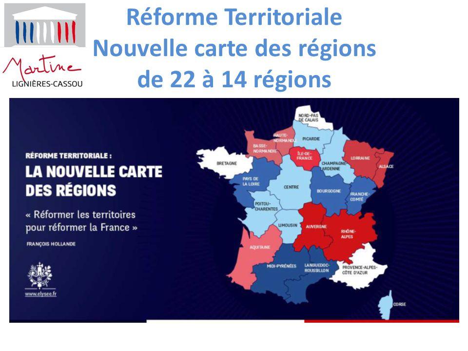 Réforme Territoriale Nouvelle carte des régions de 22 à 14 régions