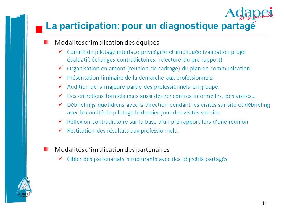 La participation: pour un diagnostique partagé