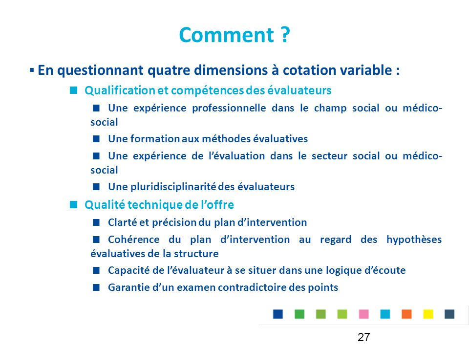 Comment En questionnant quatre dimensions à cotation variable :