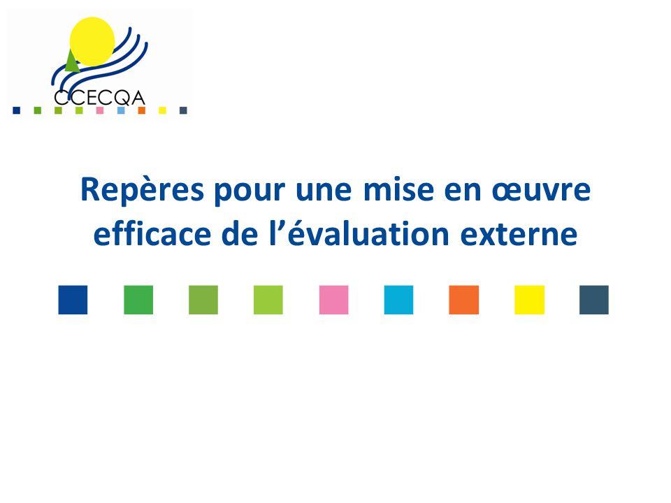 Repères pour une mise en œuvre efficace de l'évaluation externe