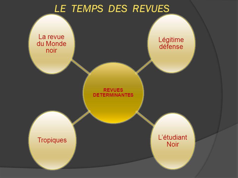 LE TEMPS DES REVUES REVUES DETERMINANTES La revue du Monde noir
