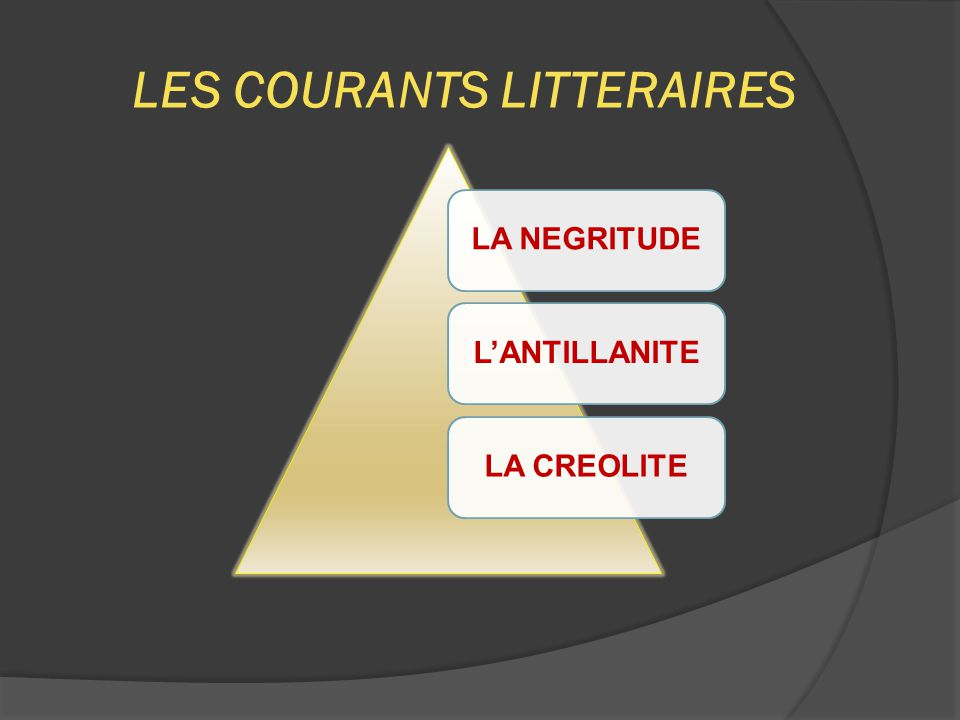 LES COURANTS LITTERAIRES
