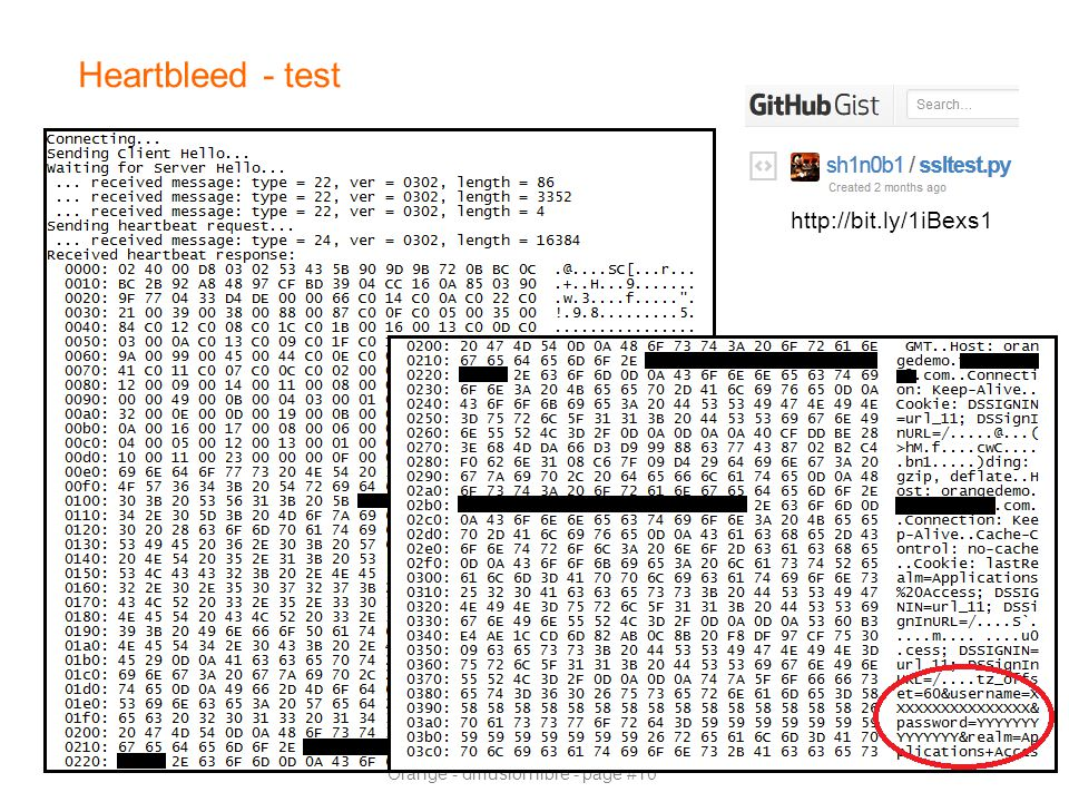 Heartbleed - test http://bit.ly/1iBexs1