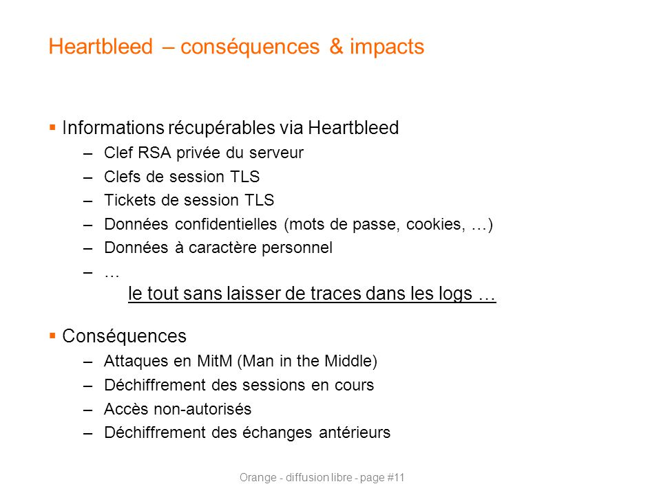 Heartbleed – conséquences & impacts