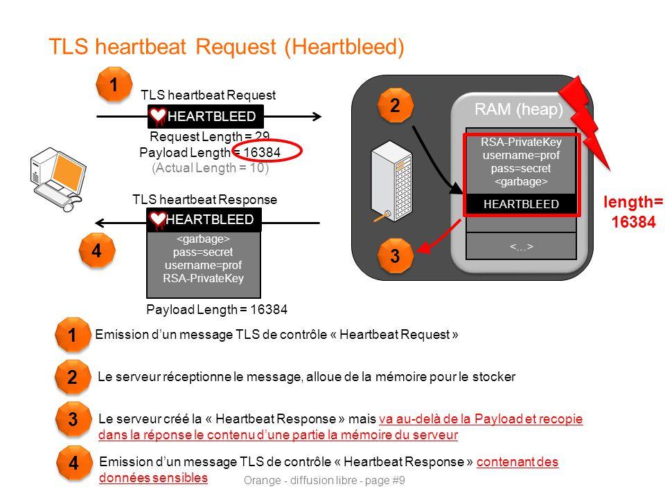 TLS heartbeat Request (Heartbleed)
