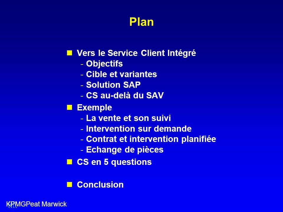 Plan Vers le Service Client Intégré Objectifs Cible et variantes