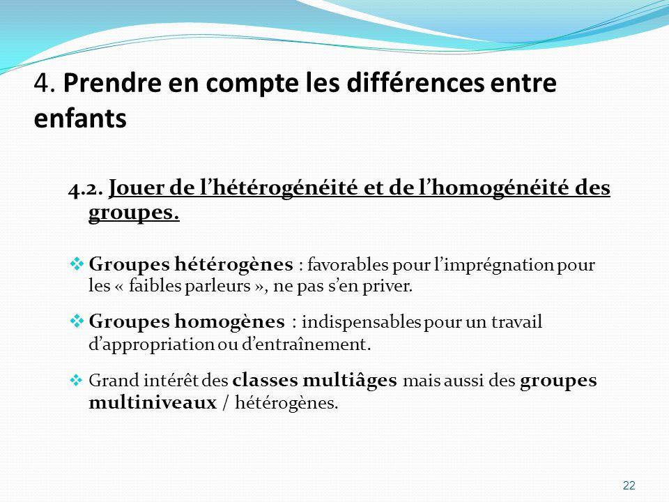 4. Prendre en compte les différences entre enfants