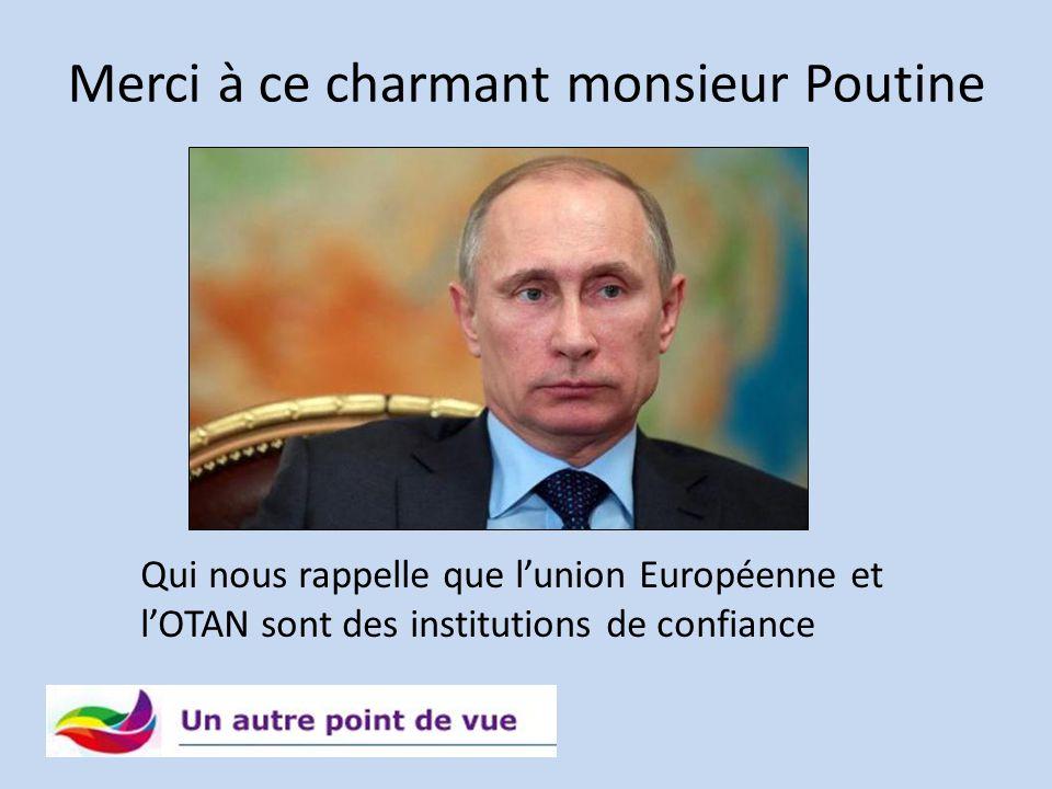 Merci à ce charmant monsieur Poutine