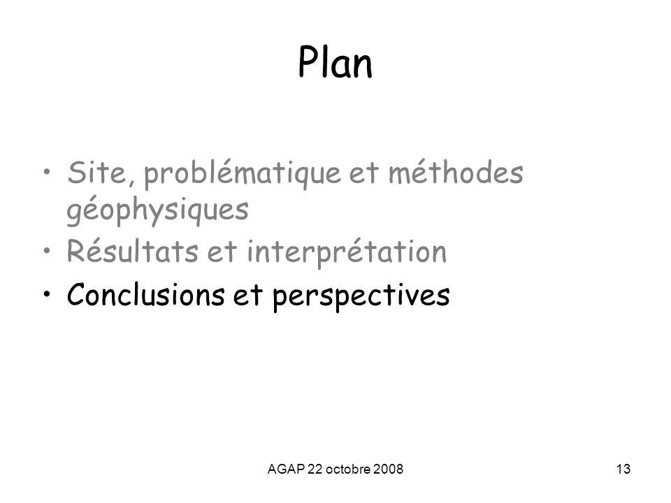 Plan Site, problématique et méthodes géophysiques