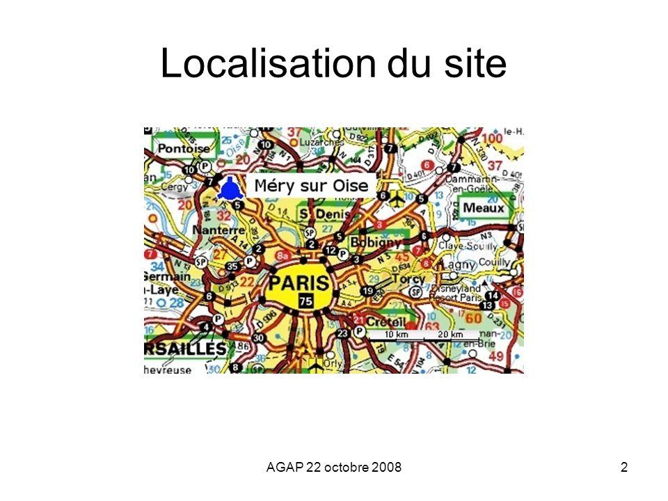 Localisation du site AGAP 22 octobre 2008