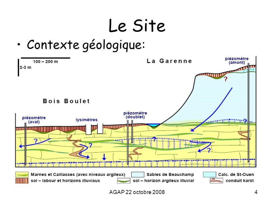 Le Site Contexte géologique: AGAP 22 octobre 2008