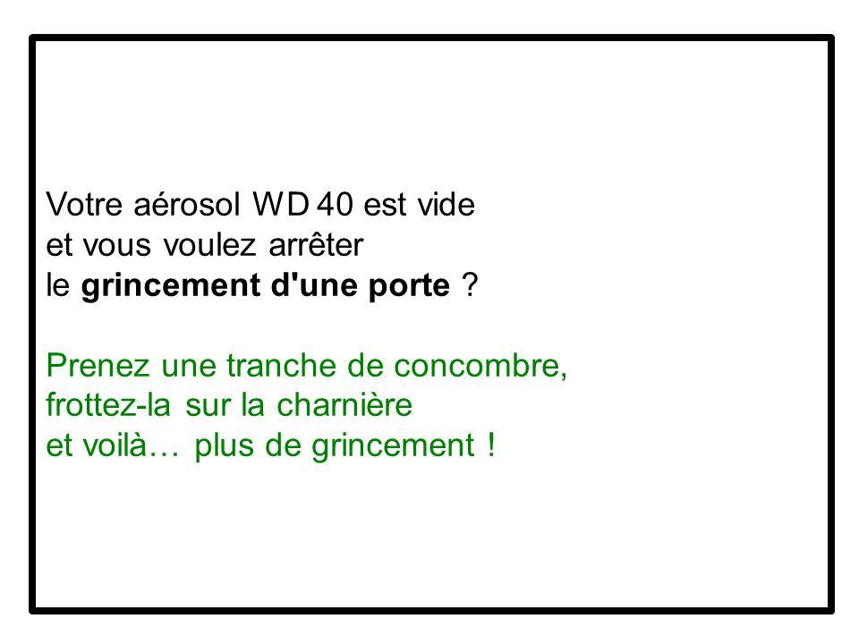 Votre aérosol WD 40 est vide