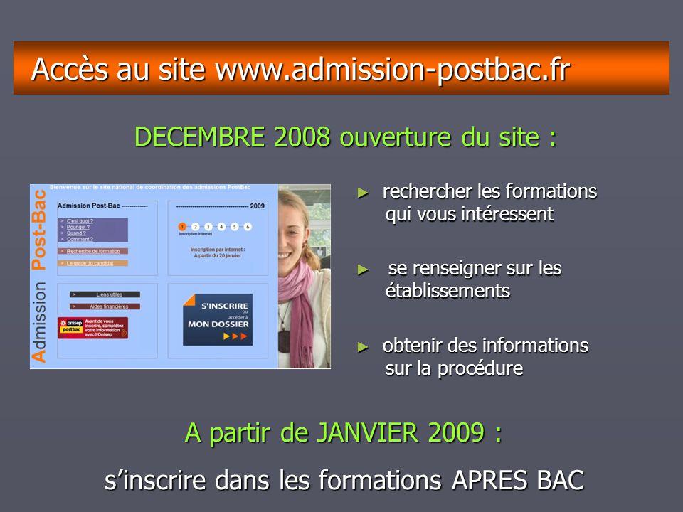 Accès au site www.admission-postbac.fr