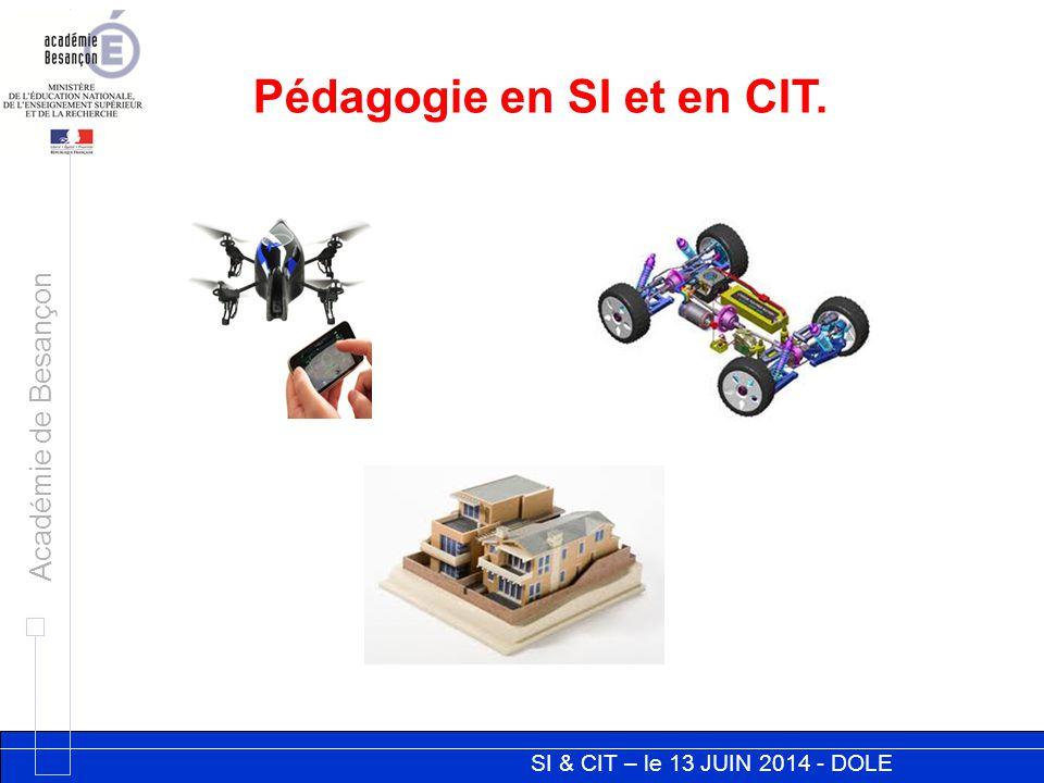 Pédagogie en SI et en CIT.