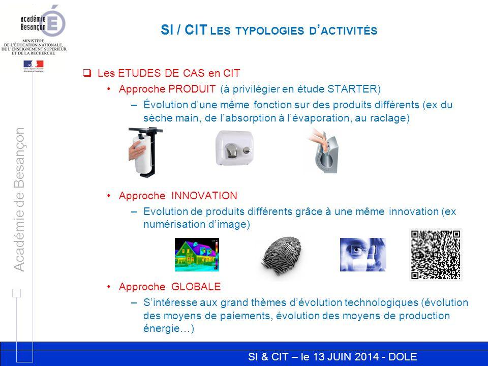 SI / CIT les typologies d'activités